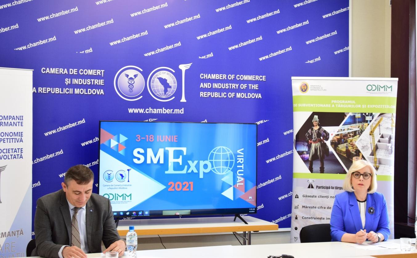 """CCI a RM și ODIMM au inaugurat expoziția virtuală """"SMExpo 2021"""""""