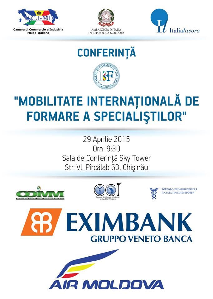 """Participă la Conferinţa """"Mobilitate internaţională de formare a specialiştilor"""""""