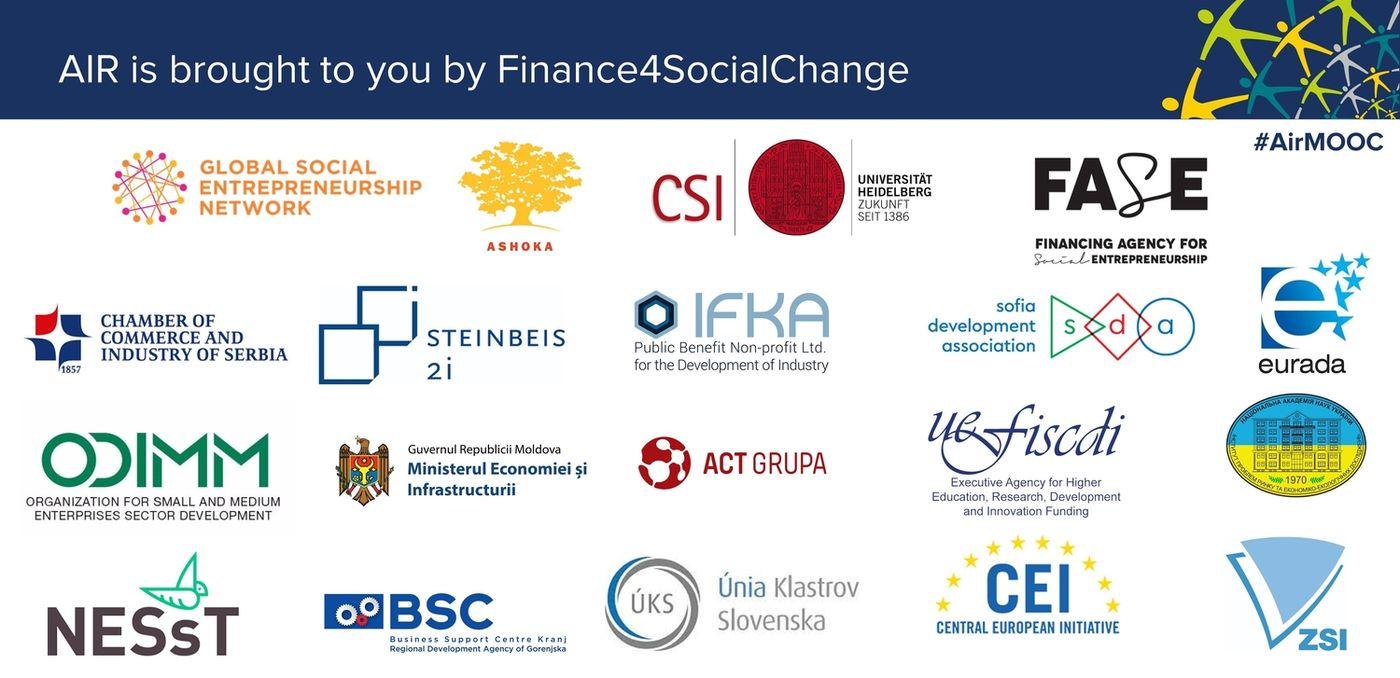 Platforma educațională și granturi pentru antreprenoratul social din regiunea Dunării