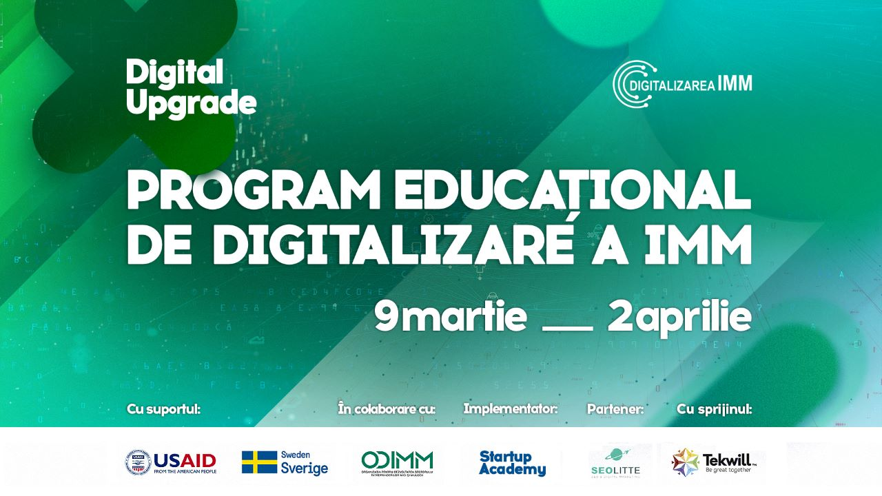 """DIGITAL UPGRADE"" HAS STARTED – THE EDUCATIONAL PROGRAM FOR DIGITIZING SMES"
