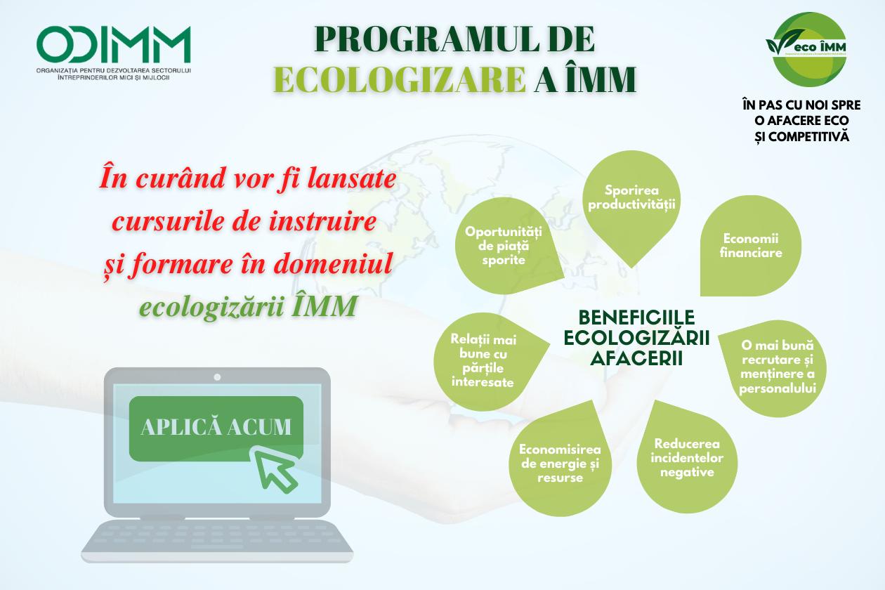 ODIMM încurajează ÎMM să se înscrie la Programul de ecologizare