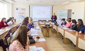 """ODIMM a lansat concursul de selectare a prestatorilor de servicii în business pentru sesiunile de instruire în cadrul Proiectului """"Business Academy for Women""""."""