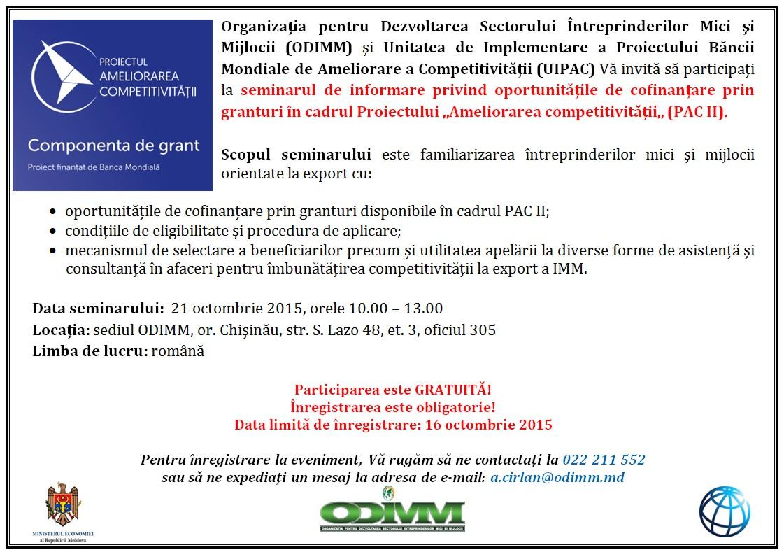 GRANT PENTRU EXPORTATORI DE SUCCES!
