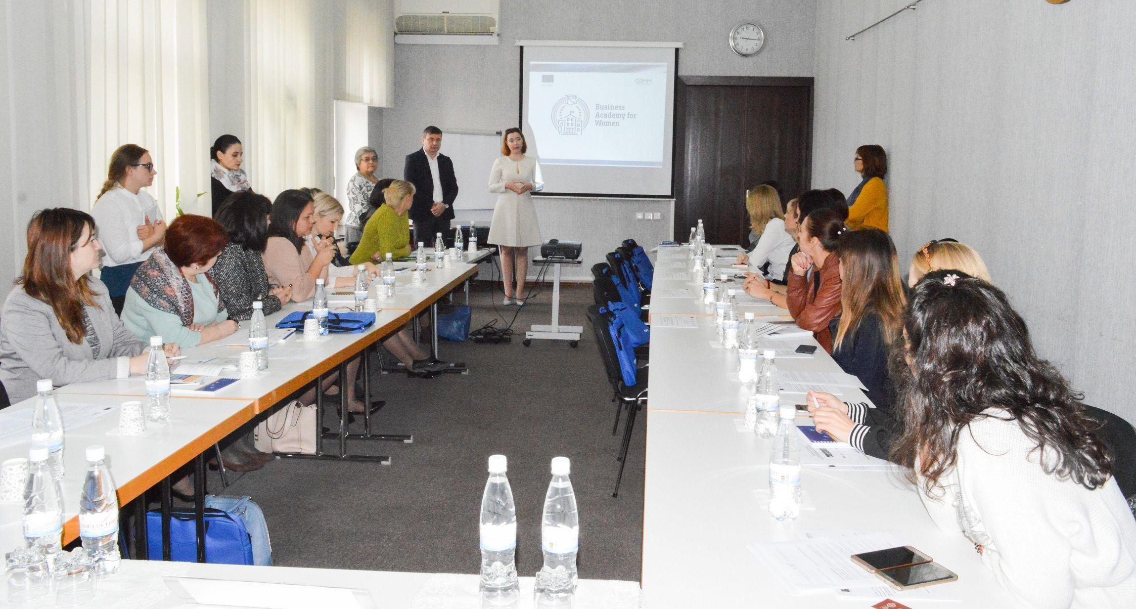 Business Academy for Women a demarat la Chișinău cursurile de instruire pentru 30 de femei antreprenoare